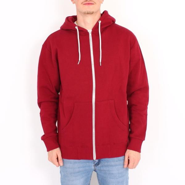 White Zip Hooded Sweater